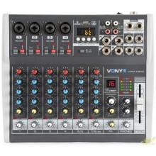 Vonyx VMM-K802 Mezclador de directo 8 canales con DSP