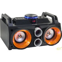 PARTY SOUND BOX RECARGABLE CON USB, BT, FM, BATERIA Y MICRO – 200W