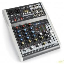 Vonyx VMM-K402 Mezclador de directo 4 canales con DSP